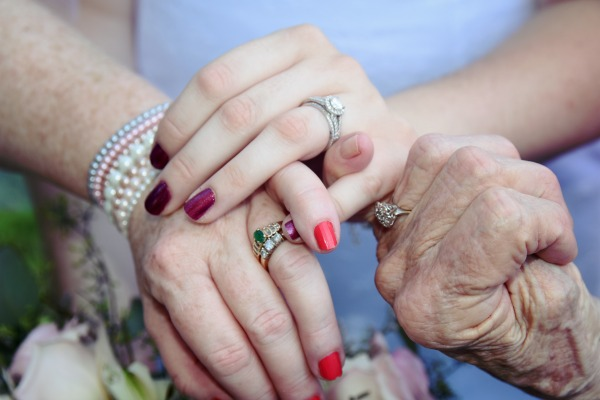 Hands of Mamaw, My Mom and I ~ Photo by Brittany Hopson Photography